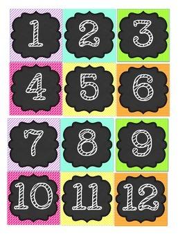 Bright Colors and Black Calendar Set