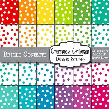Bright Confetti Digital Paper 1458