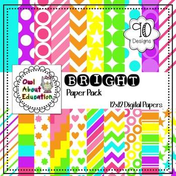 Bright Digital Paper Pack - 90 Designs!!