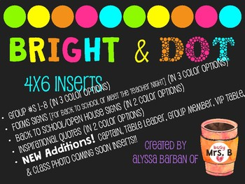 Bright & Dot 4x6 Inserts UPDATED!