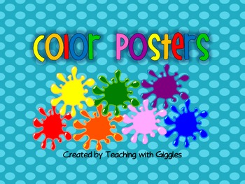 Bright Dots Color Posters