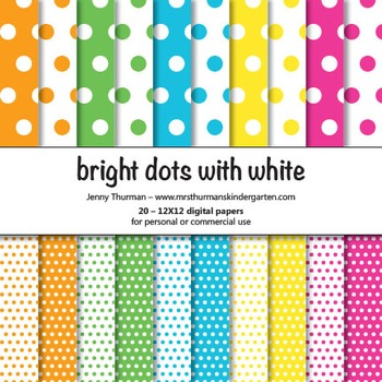 Bright Dots with White Digital Papers