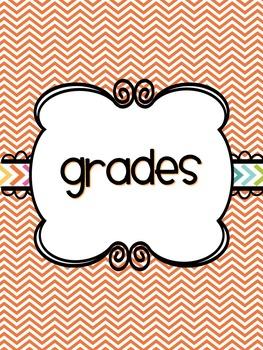 Bright {EDITABLE} Gradebook