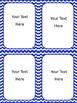 Bright Chevron Editable Task Cards