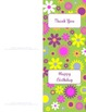 Bright Flowers Teacher Stationery Set