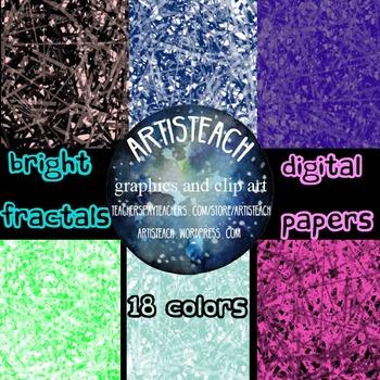 Bright Fractals Geometric Digital Papers