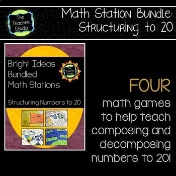 Bright Ideas Bundled Math Stations:  Structuring Skills an