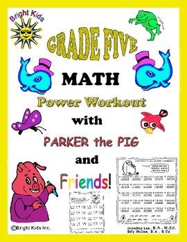 Bright Kids Grade Five Math Power Workout - Save Time! Jus