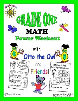 Bright Kids Grade 1 Math Power Workout - Save Time! Just P