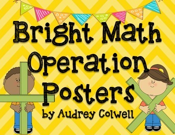 Bright Math Operations Posters