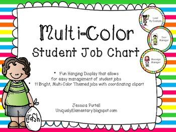 Bright, Multi-Color Student Jobs Chart