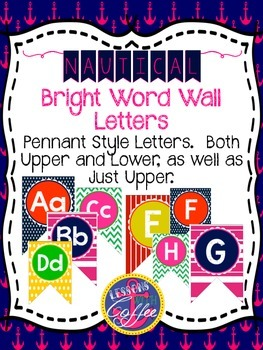 Bright Nautical Word Wall Letters (Or Could be a bunting!)