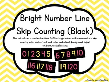 Bright & Black Even Odd Number Line 0-120 {Simple}