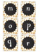 Bright Orange Paw Print Boggle Letters with Chalkboard