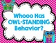 Bright Owl Behavior Clipchart