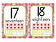 Bright Paisley Print Number Line