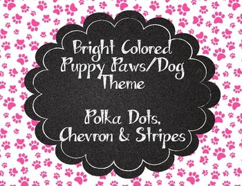 Bright Paw Print Puppy Theme Classroom Banner