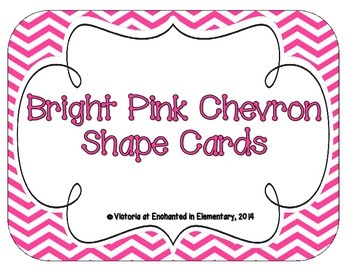 Bright Pink Chevron Shape Cards