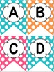 Bright Pink, Orange, and Teal Polka Dot Decor Pack