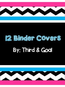 Bright Pink and Blue Binder Covers