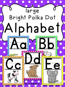 Bright Polka Dot Alphabet