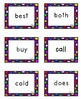 *Bright* Polka Dot 2nd Grade Dolch Sight Word Flashcards