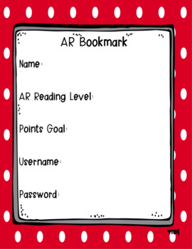 Bright Polka Dot AR Bookmarks