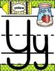 Bright Polka Dot Alphabet Posters Back to Basics handwriting font