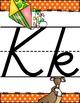 "Bright Polka Dot Alphabet Posters ""Curvy"" handwriting font"