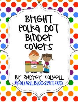 Bright Polka Dot Binder Covers