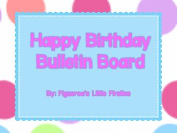 Bright Polka Dot Birthday Bulliton