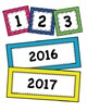 Bright Polka Dot Calendar Set Classroom Decor