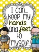 Bright Polka Dot Classroom Rules Posters - includes Whole