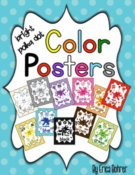 Color Posters: Bright Polka Dot