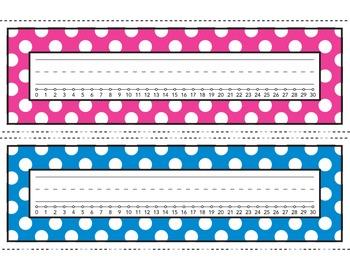 Bright Polka Dot Desk Name Plates