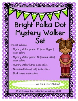 Bright Polka Dot Mystery Walker Set