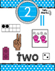 Bright Polka Dot Number Posters 1-10