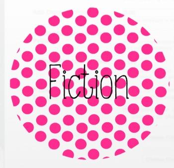Bright Polka Dot Reading Labels