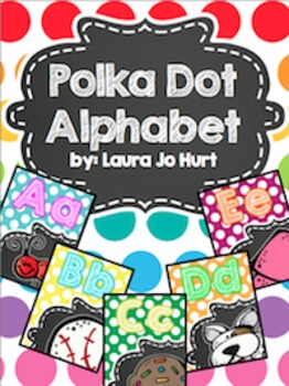 Bright Polkadot Alphabet