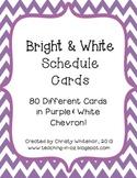 Bright Purple & White Chevron Schedule Cards