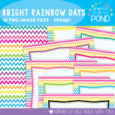 Bright Rainbow Chevron Paper and Cover Pages