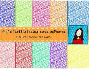 Bright Scribble Backgrounds