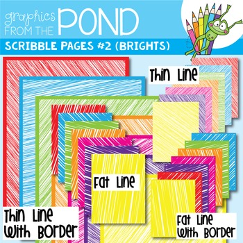 Scribble Paper {Scribble Pages Set 2: Brights}