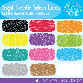 Bright Scribble Splash Labels