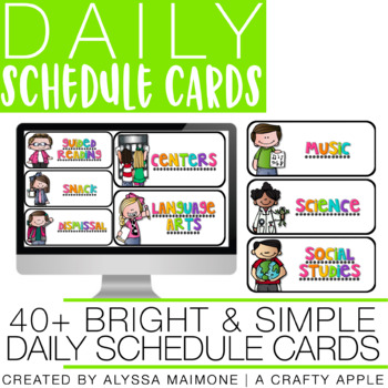 Bright & Simple Schedule Cards {Melonheadz}