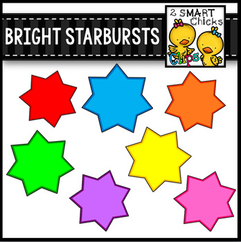 Bright Starbursts Clip Art Bundle FREEBIE