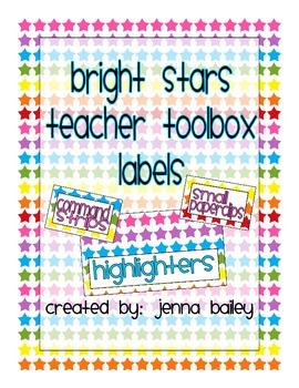 Bright Stars Teacher Toolbox Labels