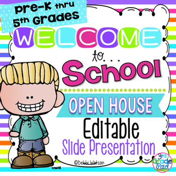 Bright Stripe Editable Welcome & Open House Powerpoint Pre