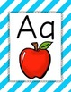 Bright Stripes Alphabet Posters