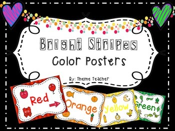 Bright Stripes Color Posters